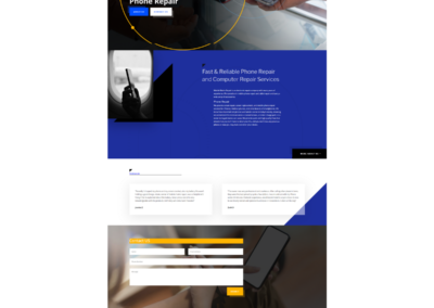 smb website design full page
