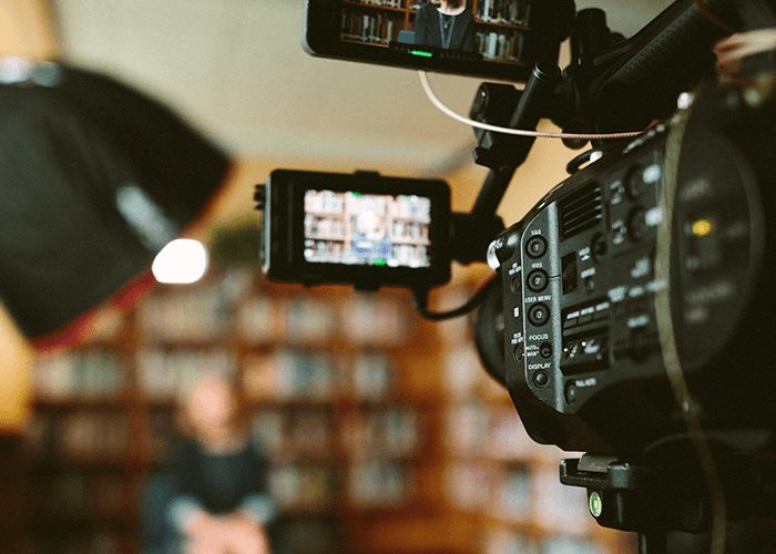 video taping an interview