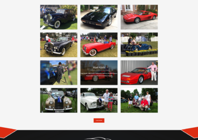 automotive international awards page web design