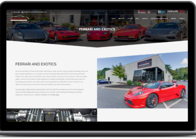 homepage smb web design automotive international