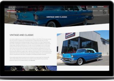 web design vintage cars automotive international cropped