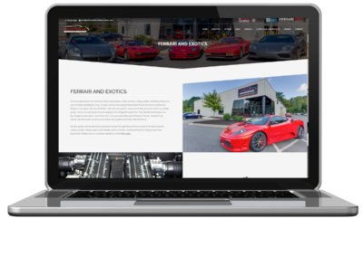 smb web design exotic cars automotive international