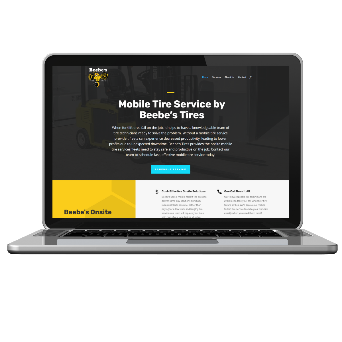 smb website design beebe's tires home