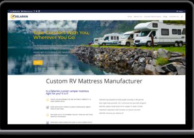 delarkin new homepage design