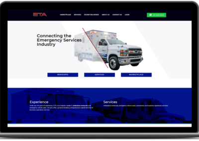 eta ambulance homepage web development cropped