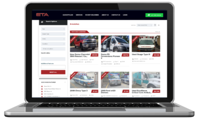 eta vehicle marketplace web development grid