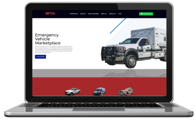 eta vehicle marketplace web design