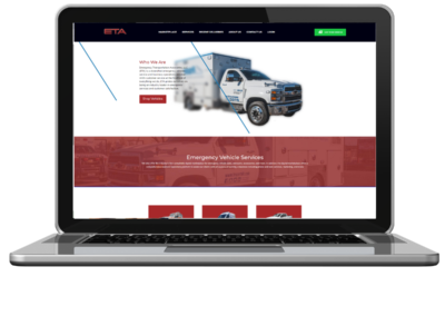 eta vehicle marketplace ambulance web development