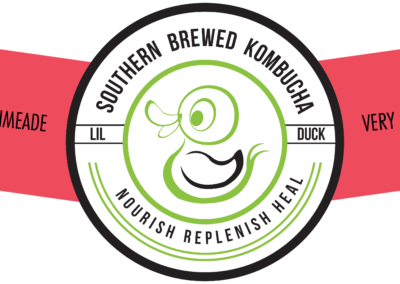 lil duck kombucha bottle label very berry