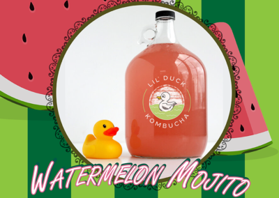 watermelon mojito kombucha social graphic
