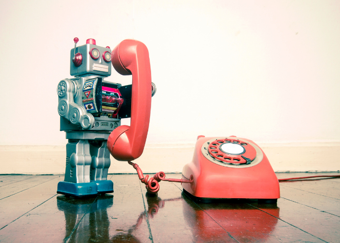 marketing automation robot answering phone