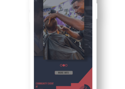 cops and barbers charlotte application design