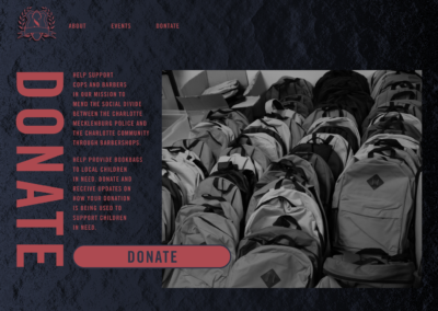 cops and barbers donate page design