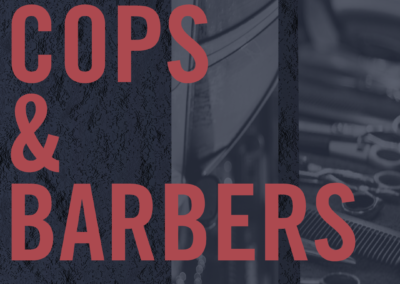 cops and barbers graphic design print example