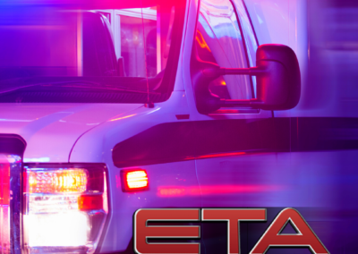eta branding social media ad with ambulance