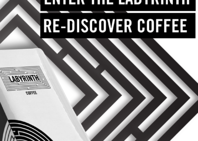 social media graphic design labyrinth coffee