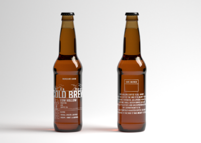 cow hollow coffee bottles design