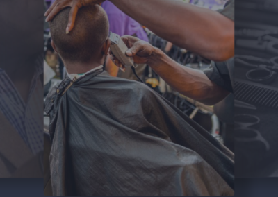 cops and barbers mobile application design