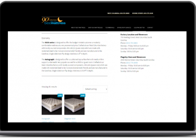 best mattress ecommerce web design old economy category page