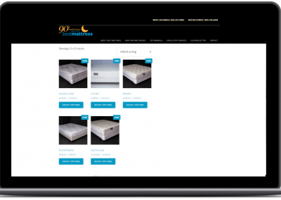 best mattress ecommerce web design old mattress search pages